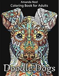 Small Picture Amazoncom Colorful Dogs Coloring Book Adult Coloring Gift A