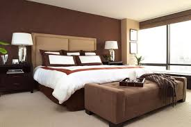 wall paint colorsbedroom  Brown Wall Paint Color Decorative Night Lamp Modern