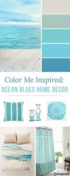Blue ocean tones are the inspiration behind this summer home decor  collection. Decorate your beach