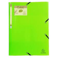 Exacompta Forever Elasticated 3 Flap Folder Lime Pack Of 15 551573e