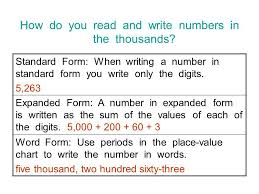Expanded Form Chart Writing Numbers In Word Form Chart Homework Example