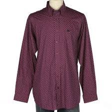 Shop Men S Cinch Pink With Multi Color Print Long Sleeve Shirt