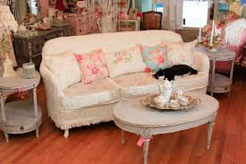 shabby chic living room furniture. shabby chic sofa slipcovered with vintage chenille bedspreads and roses fabrics eclecticlivingroom living room furniture i