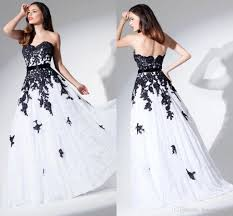 white and black wedding dresses lace black and white wedding