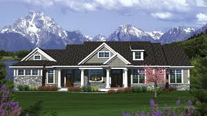 Ranch Home Plans   Ranch Style Home Designs from HomePlans com Bedroom Craftsman Ranch Home Plan HOMEPW