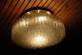 vintage large flush mount light fixture from doria leuchten
