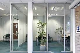 beautiful interior glass office doors and walls for commercial interiors systems homes inspiration of fo glass walls