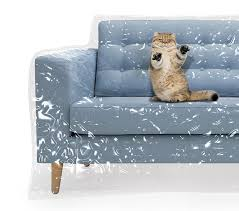 plastic couch cover for pets cat scratching protector clawing deter heavy duty water resistant