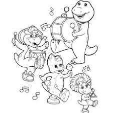 Small Picture Top 10 Free Printable Barney Coloring Pages Online