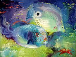 nelya shenklyarska artwork aquarium original painting oil sea life art