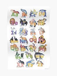 Alphabet Chart Australia Australian Animal Alphabet Poster