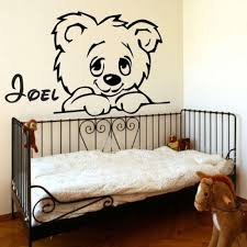 teddy bear wall sticker personalized name decal removable decoration nursery decor baby wall sticker cartoon wall stickers decorative wall decal online with  on bear wall art nursery with teddy bear wall sticker personalized name decal removable decoration