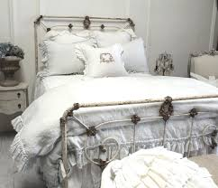 Organic Bedroom Furniture Full Bloom Cottage Linen Ruffle Bedding Soft And Organic