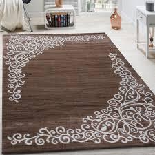 designer rug with fl shimmering yarn pattern beige white brown mottled