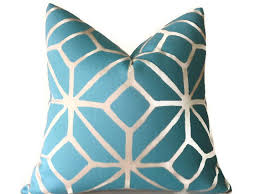 Trina Turk Indoor Outdoor Pillow Blue Pillows Throw Pillows