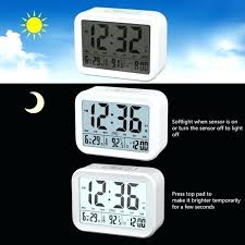 alarm clock that turns on lights talking alarm clock with smart light and snooze 7 sounds