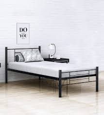 Twin size bed with mattress Bed Frame Buy Benne Twin Size Metal Bed With Inch Foam Mattress By Camabeds Online Modern Single Beds Beds Furniture Pepperfry Product Pepperfry Buy Benne Twin Size Metal Bed With Inch Foam Mattress By Camabeds