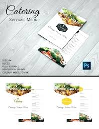 Menu Flyer Template Free Grill Restaurant Magazine Ad Or Catering