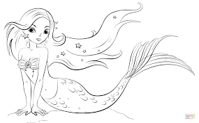 Small Picture Mermaid coloring page Free Printable Coloring Pages