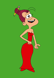 Agnes Johnson wearing a red dress by matiriani28 on DeviantArt