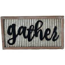 corrugated metal gather sign galvanized signs blank tin