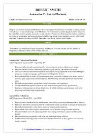 Sample Resume Auto Mechanic Automotive Technician Resume Samples Qwikresume