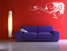 Small Picture CORNER FLOWER BUTTERFLY VINE ART WALL STICKER DECAL MURAL STENCIL