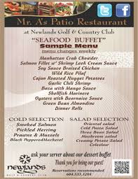 sample menu seafood buffet - Newlands ...