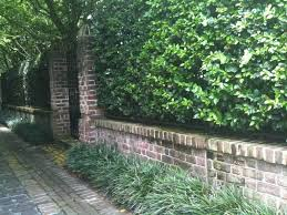 brick wall on street the side yard as a garden feature