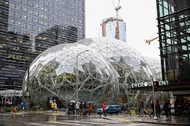 amazon office space. The Amazon Spheres Are Seen From 6th Avenue In Seattle Office Space O