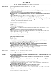 Security Engineer Resume Sample Senior Security Engineer Resume Samples Velvet Jobs 23