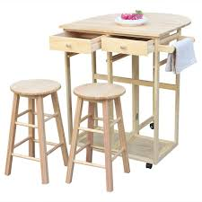 Amazoncom Movable Dining Table Setwood Kitchen Island Rolling