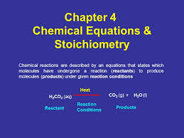 chapter 4 chemical equations stoichiometry