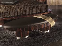 Bedroom furniture benches Dark Wood Storage Giorgio Luna Bedroom Oval Bench 835 Italy 2000 Benches Bedroom Furniture Modern Furniture Los Angeles