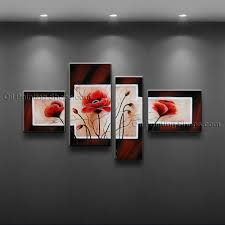 contemporary wall art floral painting poppy flower paintings