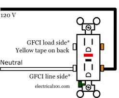 ground fault circuit interrupter wiring diagram Gfci Wiring Diagram ground fault circuit interrupters gfcis electrical 101 gfci wiring diagrams for bathroom