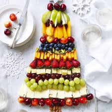 fruit christmas tree.  Christmas Fruit And Cheese Platter Christmas Tree And H