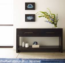 photo of modern entryway table
