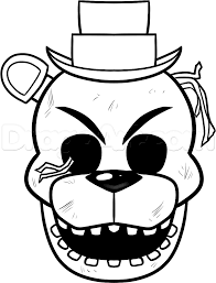 Freddy Coloring Pages Golden Sketch Coloring Page Fnaf