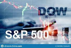 American Stock Market. Sp500 And Dow ...