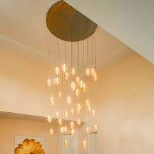 contemporary chandelier blown glass led custom breath co
