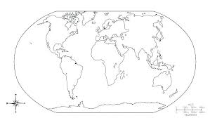 Map Color Countries Kids Coloring Outline Base Maps Blank World Map