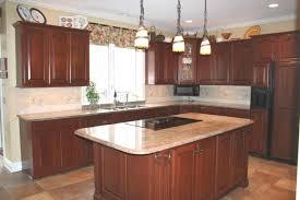 Cherry Cabinet Kitchens Cherry Kitchen Cabinets With Quartz Countertops Cliff Kitchen