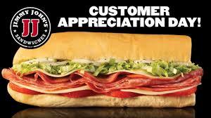 jimmy john s sandwiches. Unique Jimmy Jimmyjohnscustomerappreciationday Throughout Jimmy John S Sandwiches 0