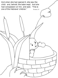 Small Picture Baby Moses In Basket Coloring Page Coloring Coloring Pages