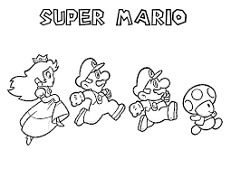 Super Mario Bros Characters Coloring Pages Coloriages Enfants