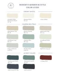 farmhouse paint colorsHow to Bring Modern Farmhouse Style to Your Home Part 2 Color
