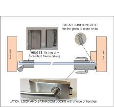 glass door furniture. Plan Drawing Showing Details For Full Glass Single Doors Door Furniture H