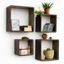 ... Box Shelves On Wall Dark Brown Stained Cube Wooden Contemporary Shelf  Cubbi Accent Wall Shelves Cairo ...