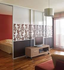 ... Divider Design Large Size Small Portable Wooden Credenza With Tv Stand  Set In Front Of Decorative Ikea Room ...